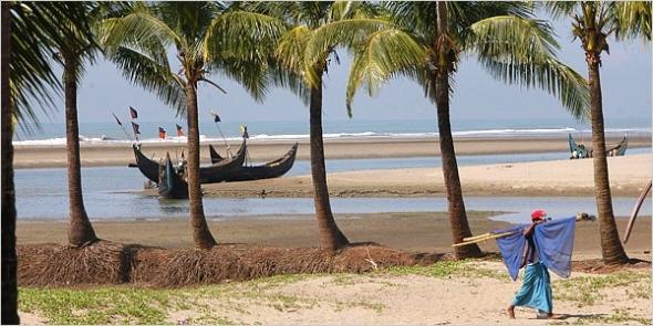Esta playa, dicen que la más larga del mundo, también desaparecería. Fuente: Locura Viajes.
