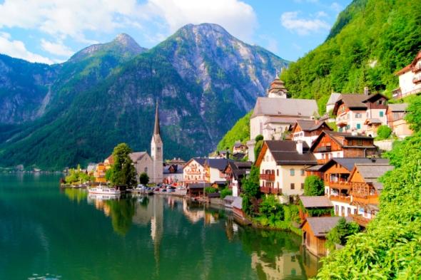 El paisaje de este pueblo de Alta Austria fue declarado Patrimonio de la Humanidad por la Unesco.