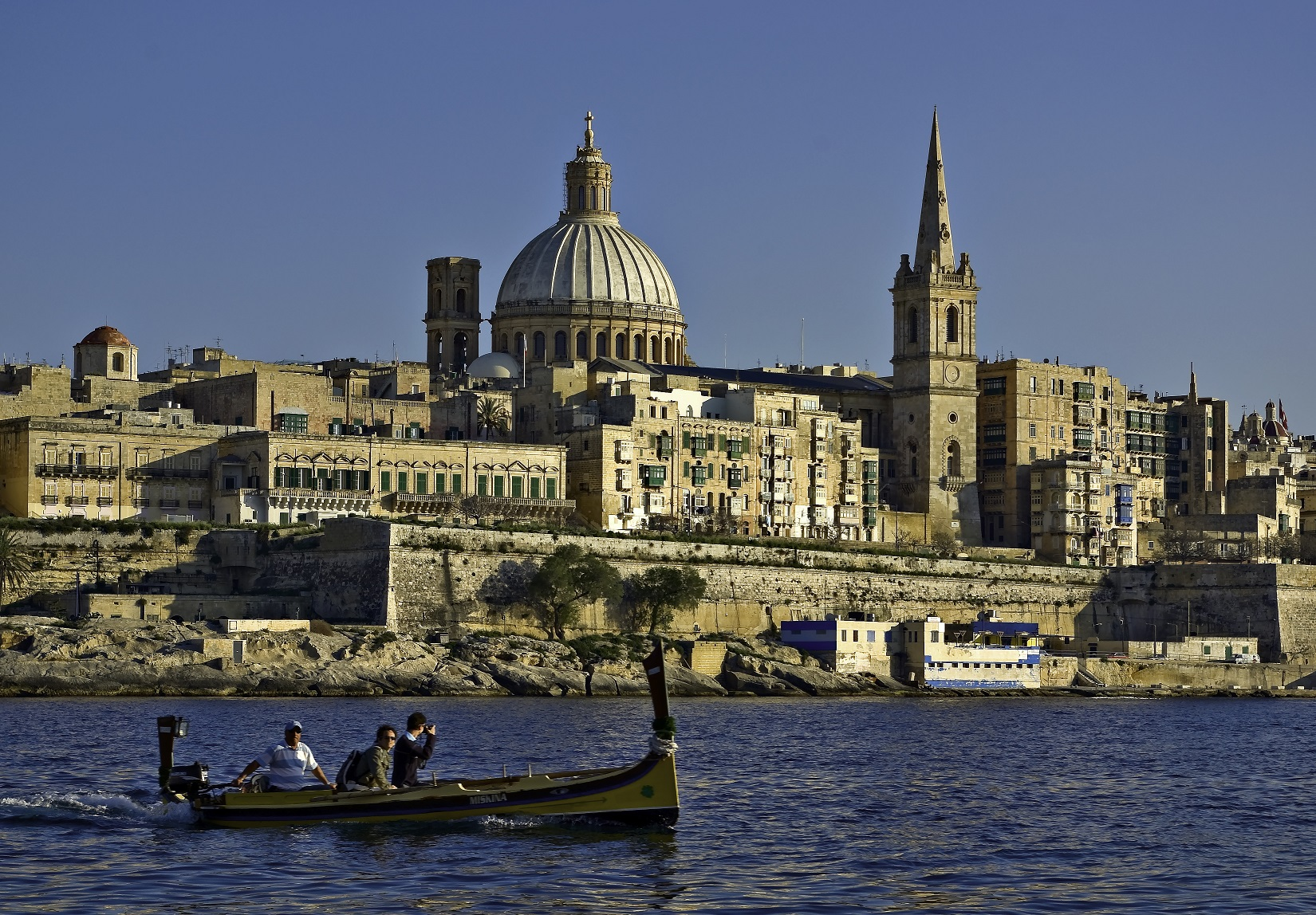 Malta - Valletta from Marsamxett Harbour 01 by Clive Vella