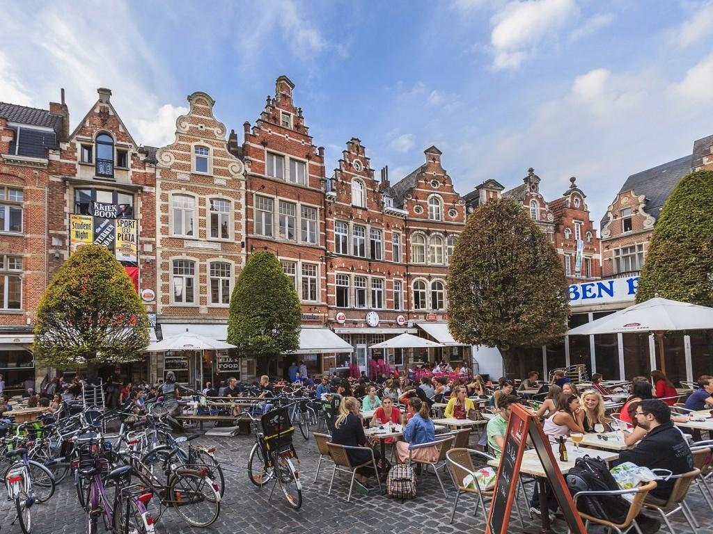Leuven - The Oude Markt, Belgium