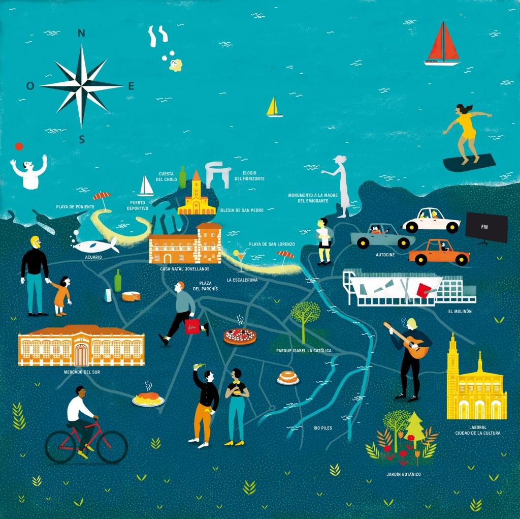 Ilustración Gijón